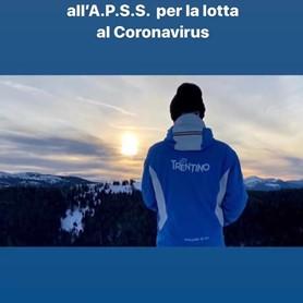 I MAESTRI DI SCI DEL TRENTINO HANNO DECISO DI DONARE €20.000 ALL'APSS PER LA LOTTA AL CORONAVIRUS